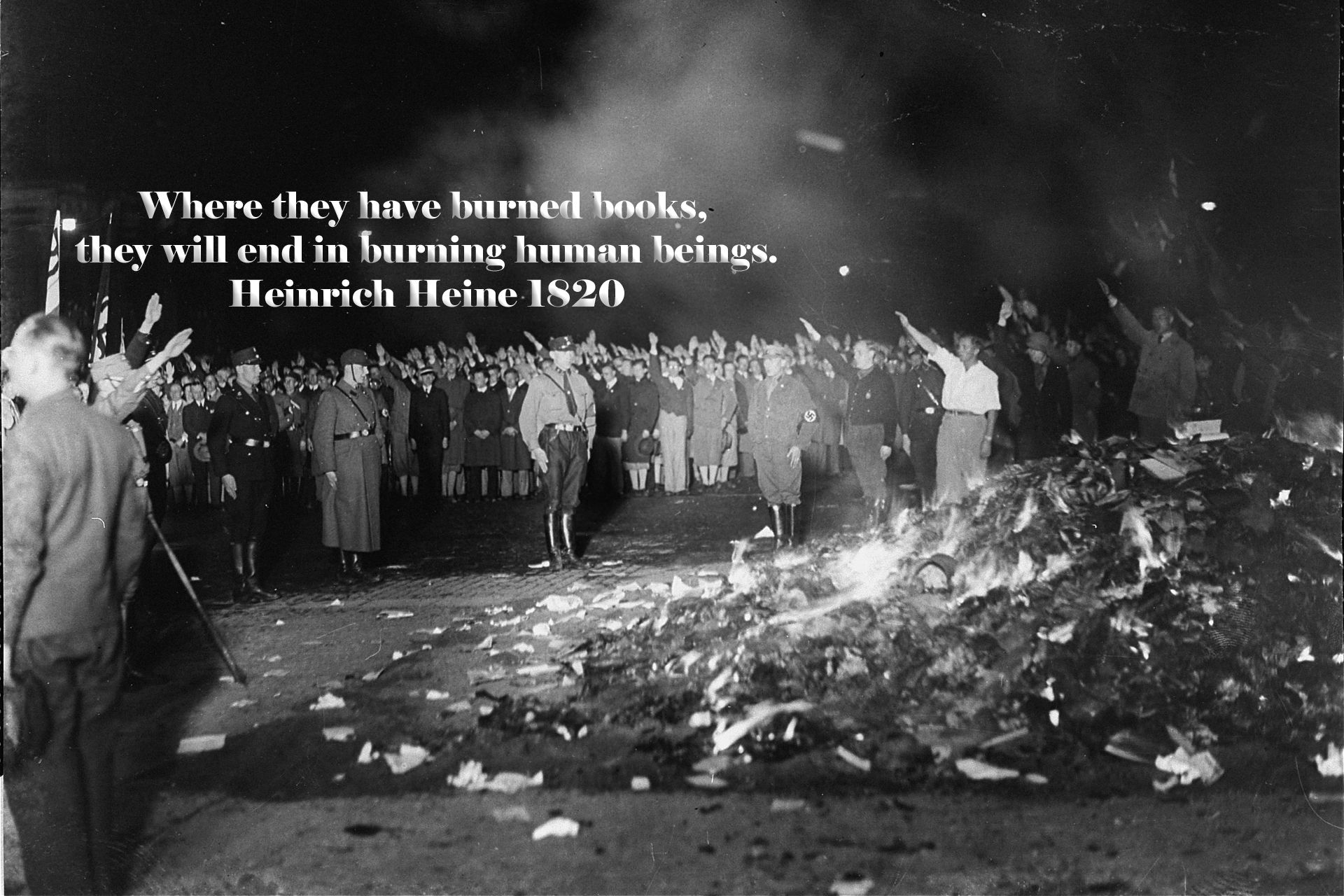 TIL that when the Nazi Party held its first book burnings ...