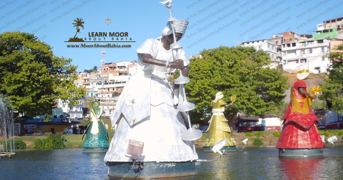 Learn Moor About Bahia Brasil | Salvador Bahia | Afro Brazilian: Orishá Statues at Dique Do ...