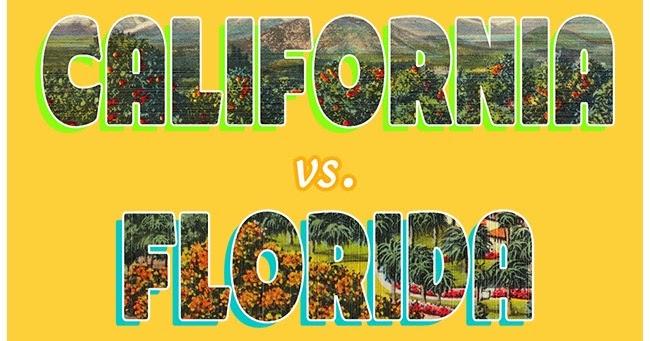 Stinking, shrinking California vs. fantastic, flourishing Florida — A tale of two states…