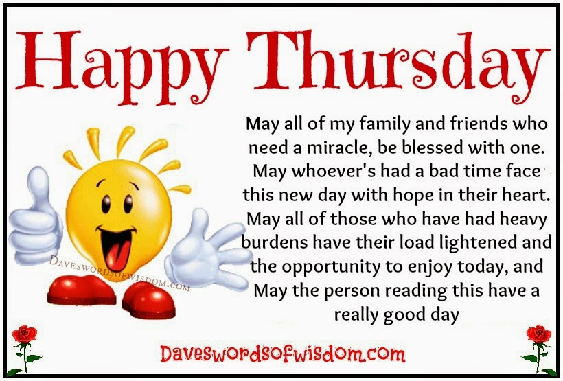 Happy Thursday.