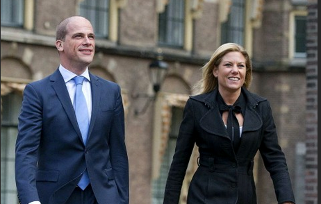 Diederik Samsom with Girlfriend Saar van Bueren