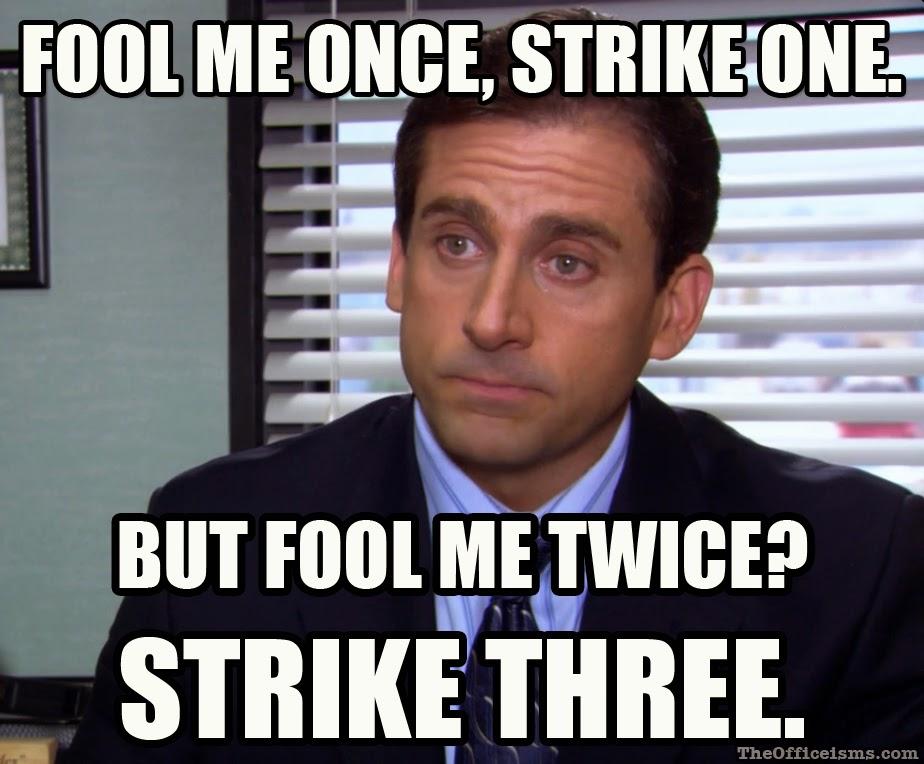 Fool me Michael Scott meme The Office