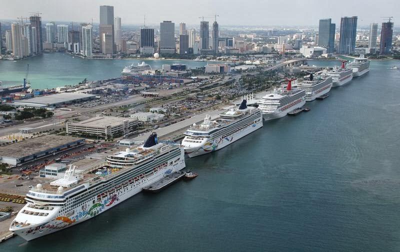 Florida Cruise Traveler - Navy: Port of Miami cruise ship ...