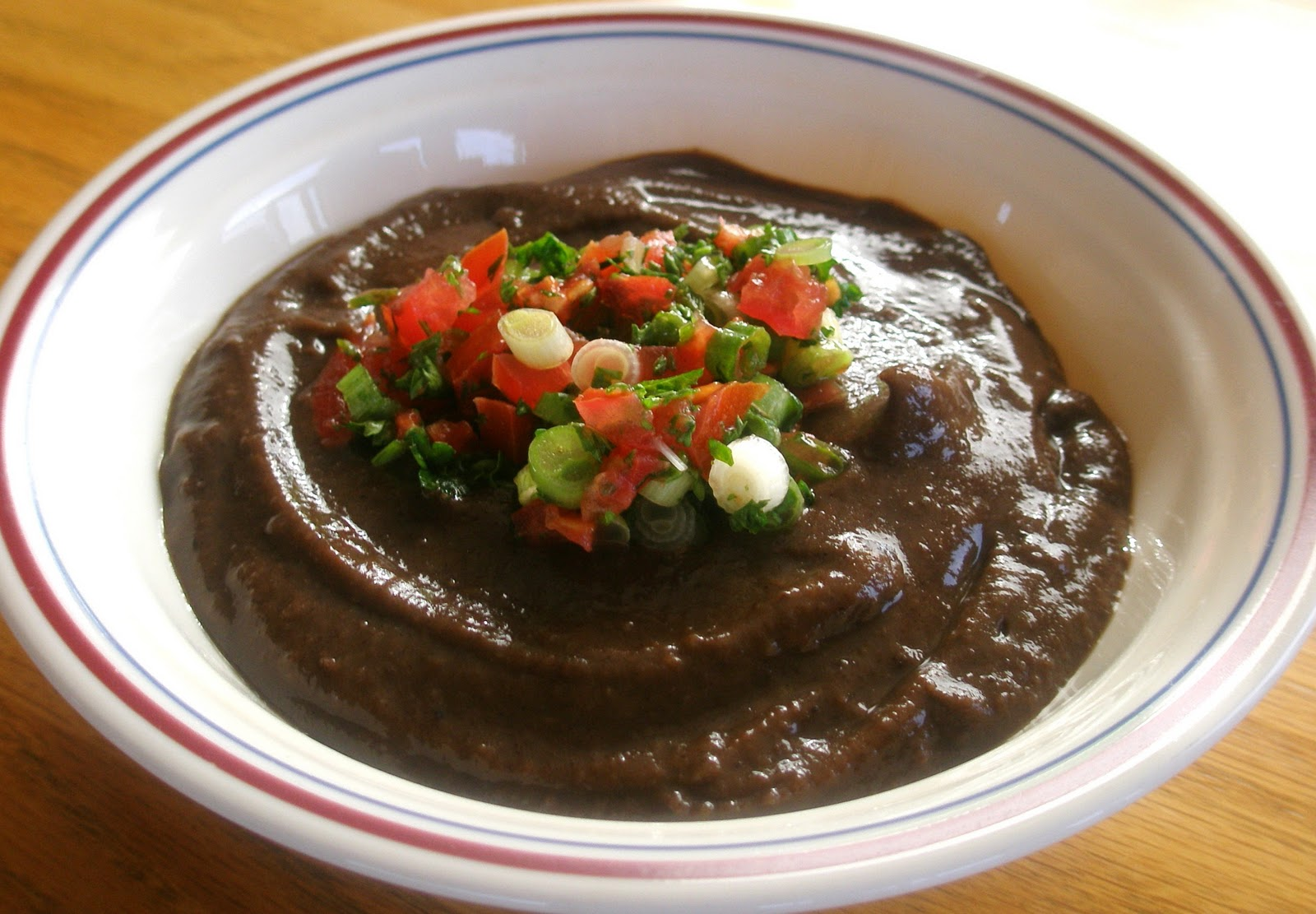 Black Bean Soup with a Splash