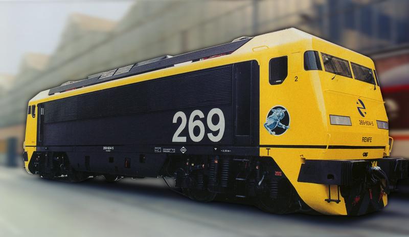 Foto de CAF de la locomotora 269.604