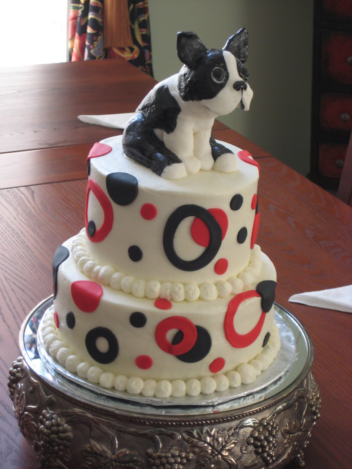 ~fOr THe lOvE oF CakE~: Brothers Boston Terrier Birthday Cake