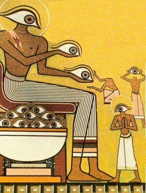 trippy all seeing eye ancient egypt Egyptian art ...