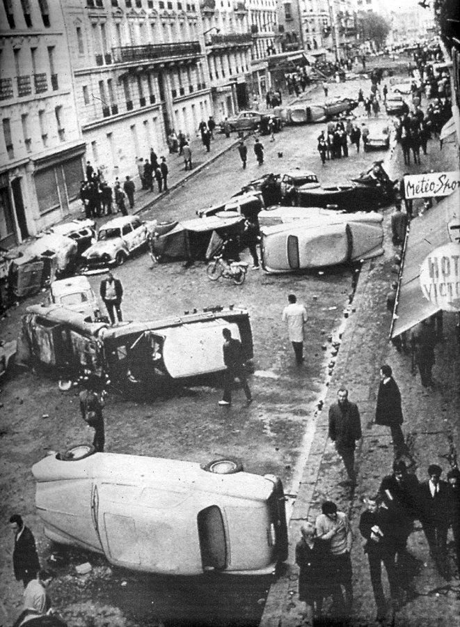 MK10s turned over at May 1968 Paris demonstrations