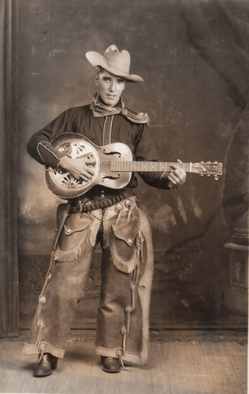 wehadfacesthen:Old-time cowboy musician