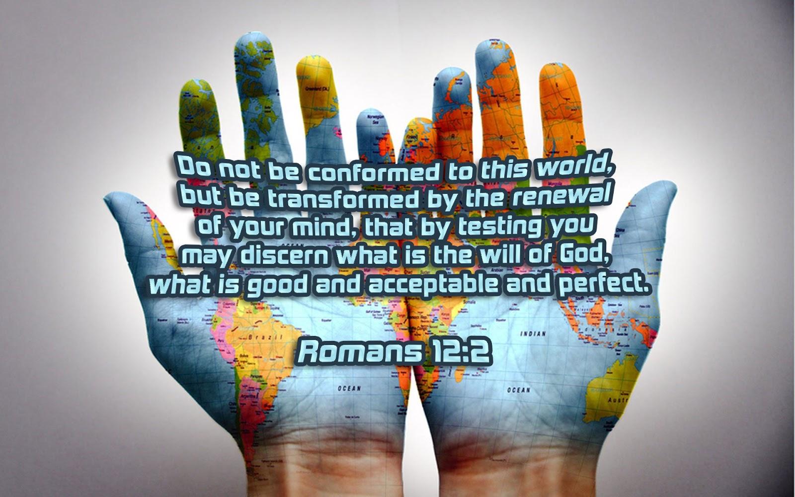 Scripture Wallpaper: Romans 12:2 --- Bible Verse Wallpaper