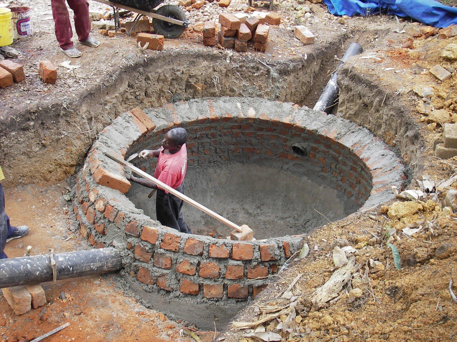 Mission de Brouadou: Construction d'un digesteur biogaz