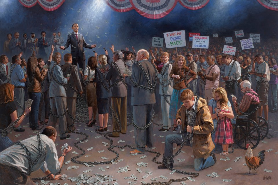 Corazon's Corner: Jon McNaughton: Bringing Hate to a Canvas Near You