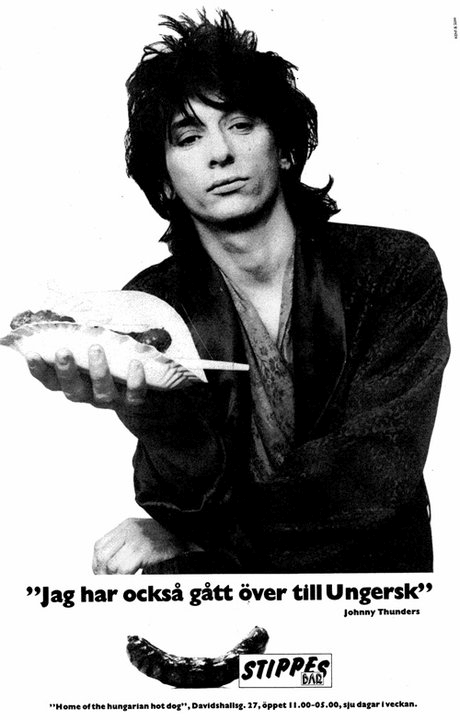The Perlich Post: Johnny Thunders sells Stippes hotdogs (1984)