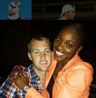 Jack Sock with Kız arkadaşı Sloane Stephens
