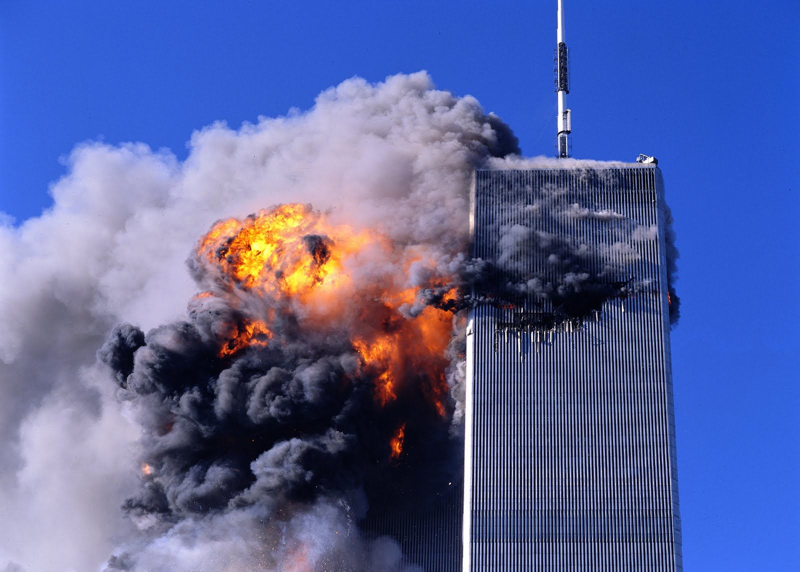 Archive photos - South Tower explosion