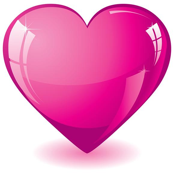 Hot Pink Heart | Symbols & Emoticons