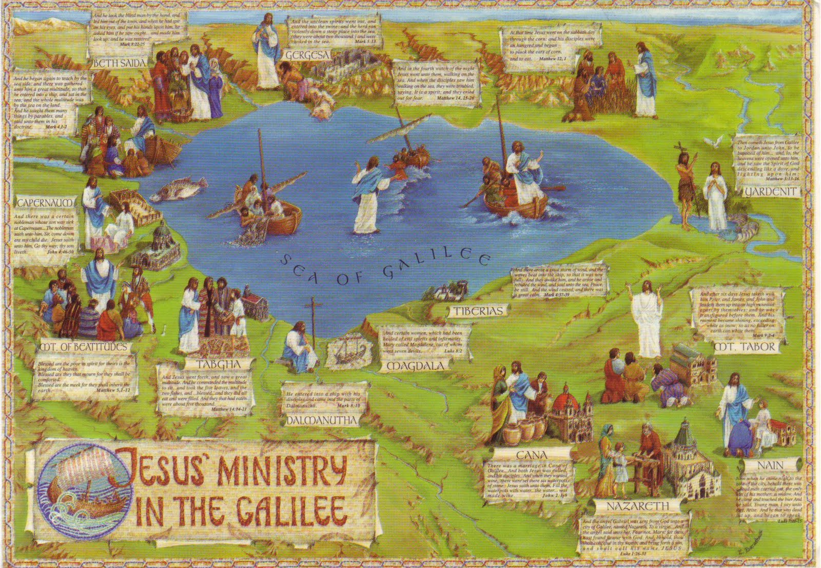 The World in Postcards - Sabine's Blog: Jesus' Ministry in ...