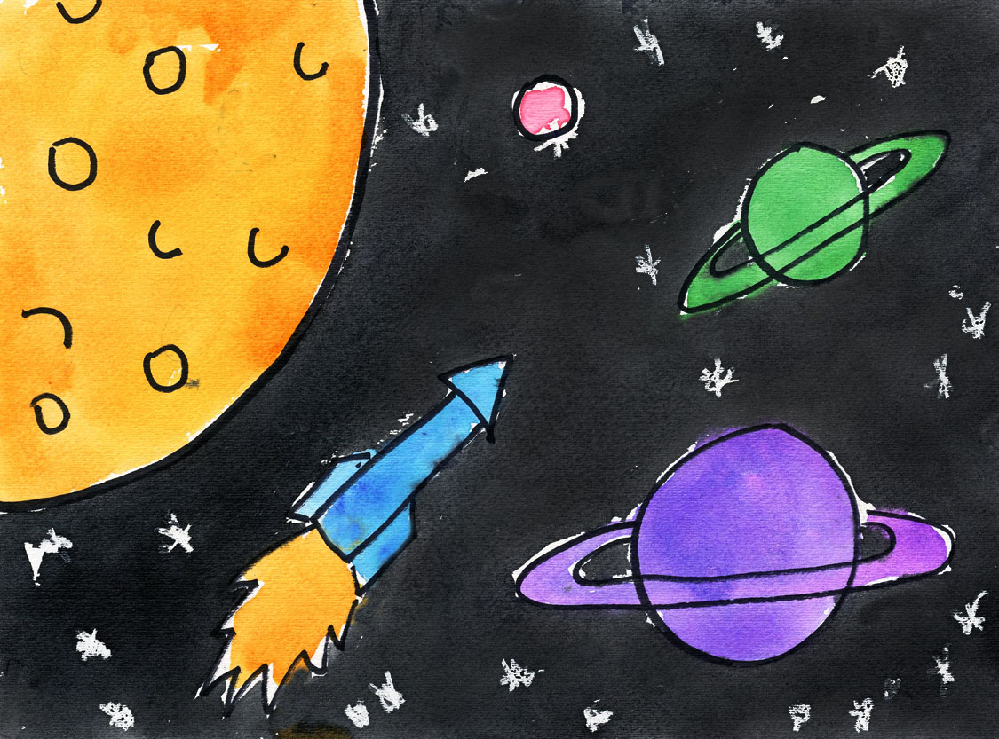 Outer Space Art Project for Kids | Ziggity Zoom