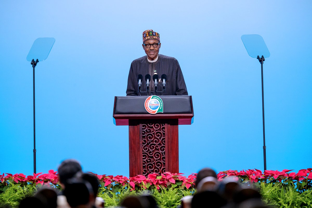 See The Moment President Buhari Spoke At China-African ...