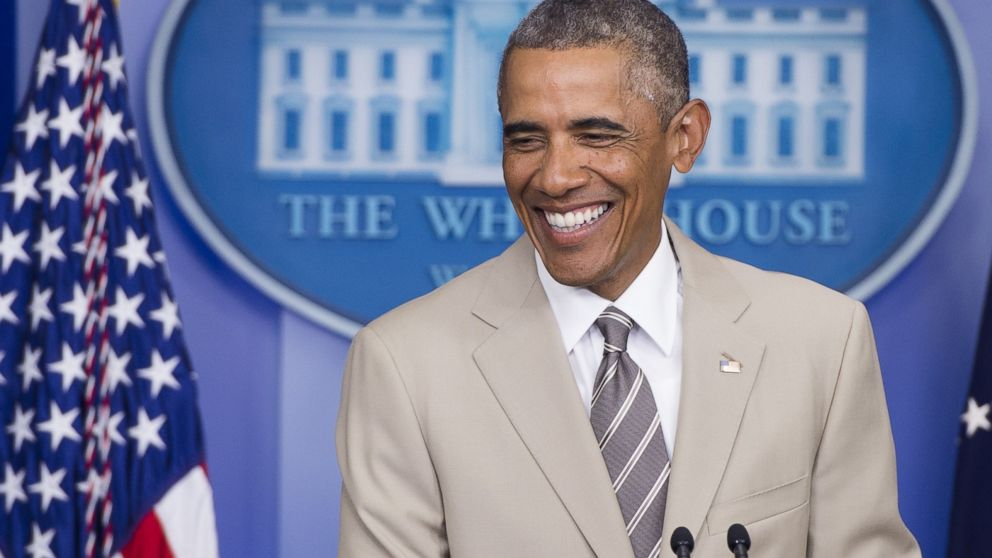 PHOTO: President Barack Obama holds a press conference in the Brady ...