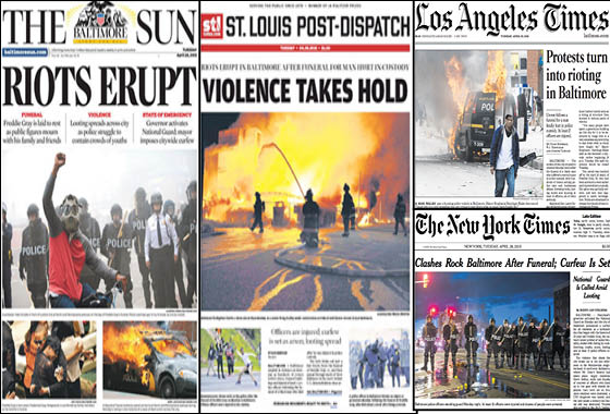 How the Media Covered the Baltimore Riots - American ...