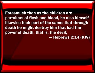 Bible Verse Powerpoint Slides for Hebrews 2:14