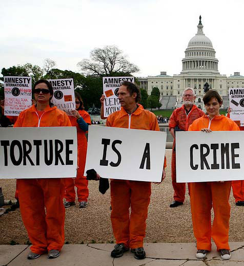 Torture activism in front of the White House