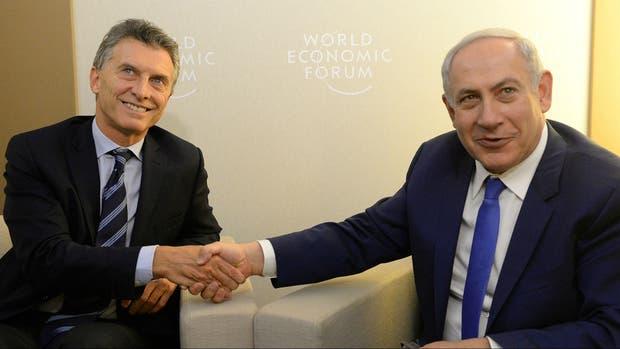 El presidente Mauricio Macri y el premier israelí Benjamin Netanyahu ...