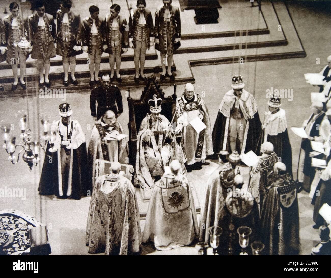 Coronation of British King George VI in Westminster Abbey ...