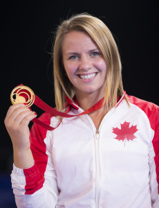 The 28-year old daughter of father (?) and mother(?), 175 cm tall Erica Wiebe in 2017 photo