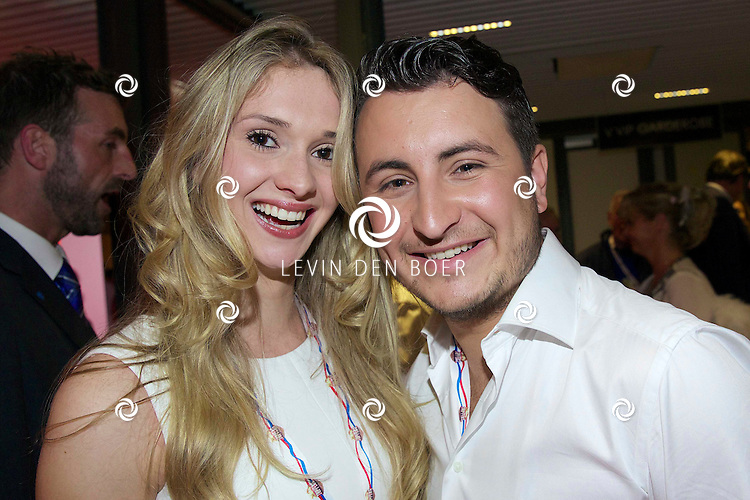 Danny Froger with Girlfriend Michelle van den Eijnden