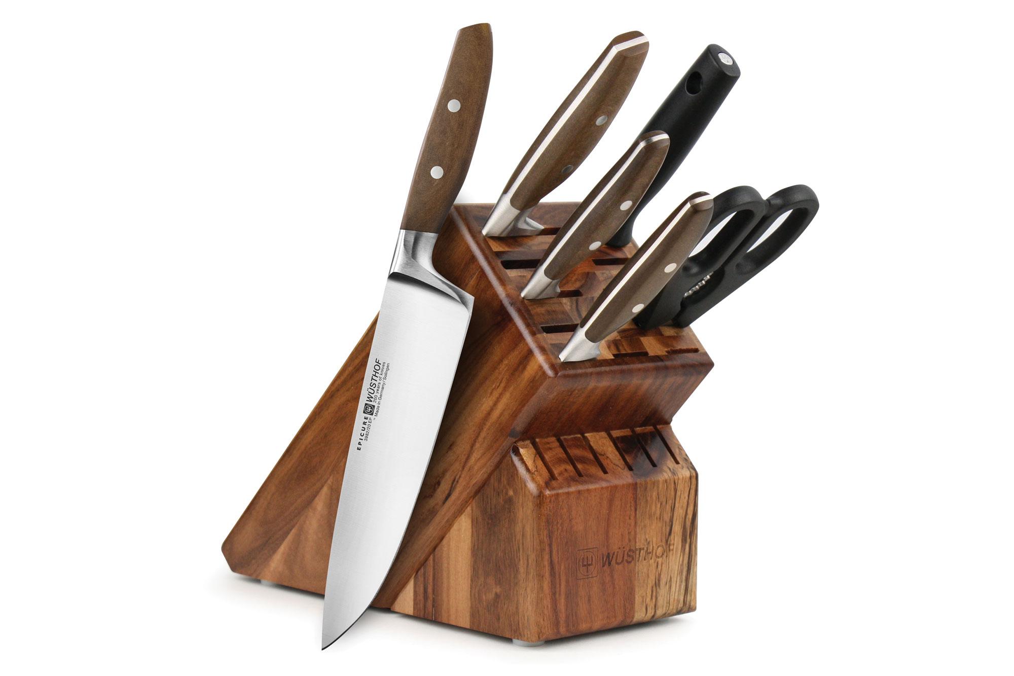 Wusthof Epicure Knife Set 7-piece Acacia Block - Wusthof ...