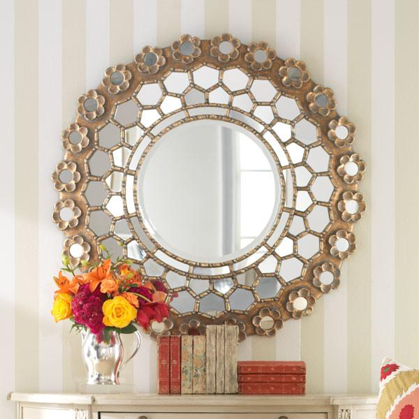 French Honeycomb Mirror, Mirrors, Wisteria
