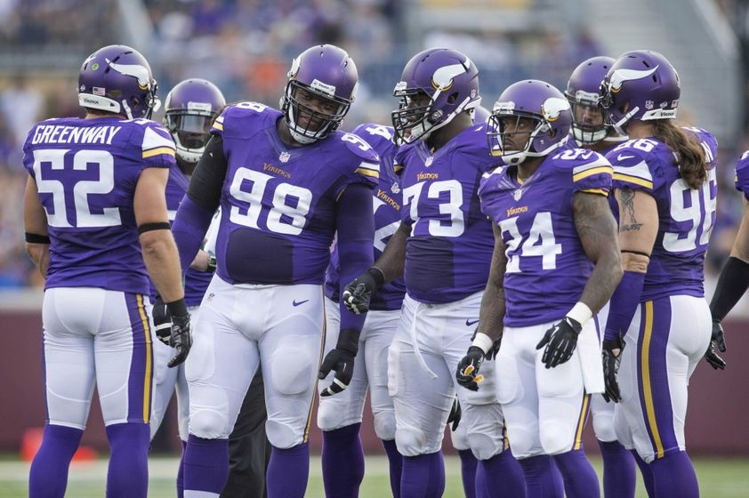 ... minnesota vikings defensive tackle linval joseph 98 and defensive