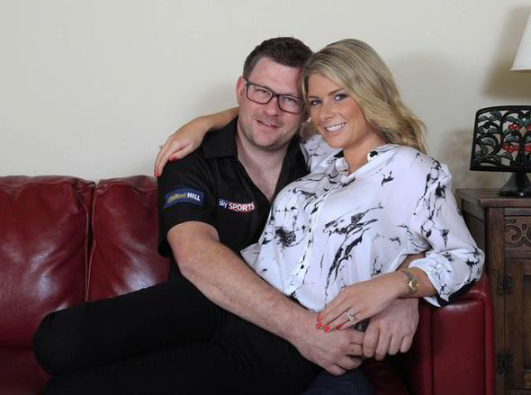 James Wade with Moglie Sammi Marsh
