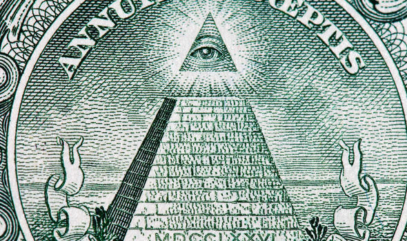 "The ""all seeing eye"" symbol of the Illuminati is on the US dollar note ..."