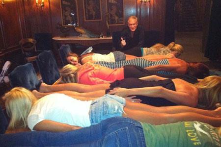 Hugh Hefner planks; fad is officially over