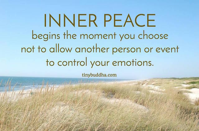 Inner Peace Begins the Moment When...
