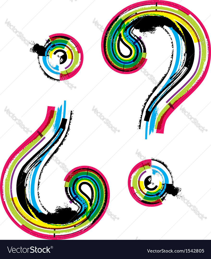 Colorful grunge question mark symbol vector by aroas - Image #1542805 ...