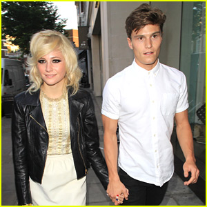 Pixie Lott with Boyfriend Oliver Cheshire