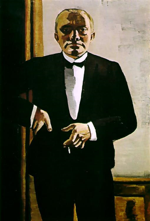 That confidence dominates his Self-Portrait in Tuxedo, in which ...