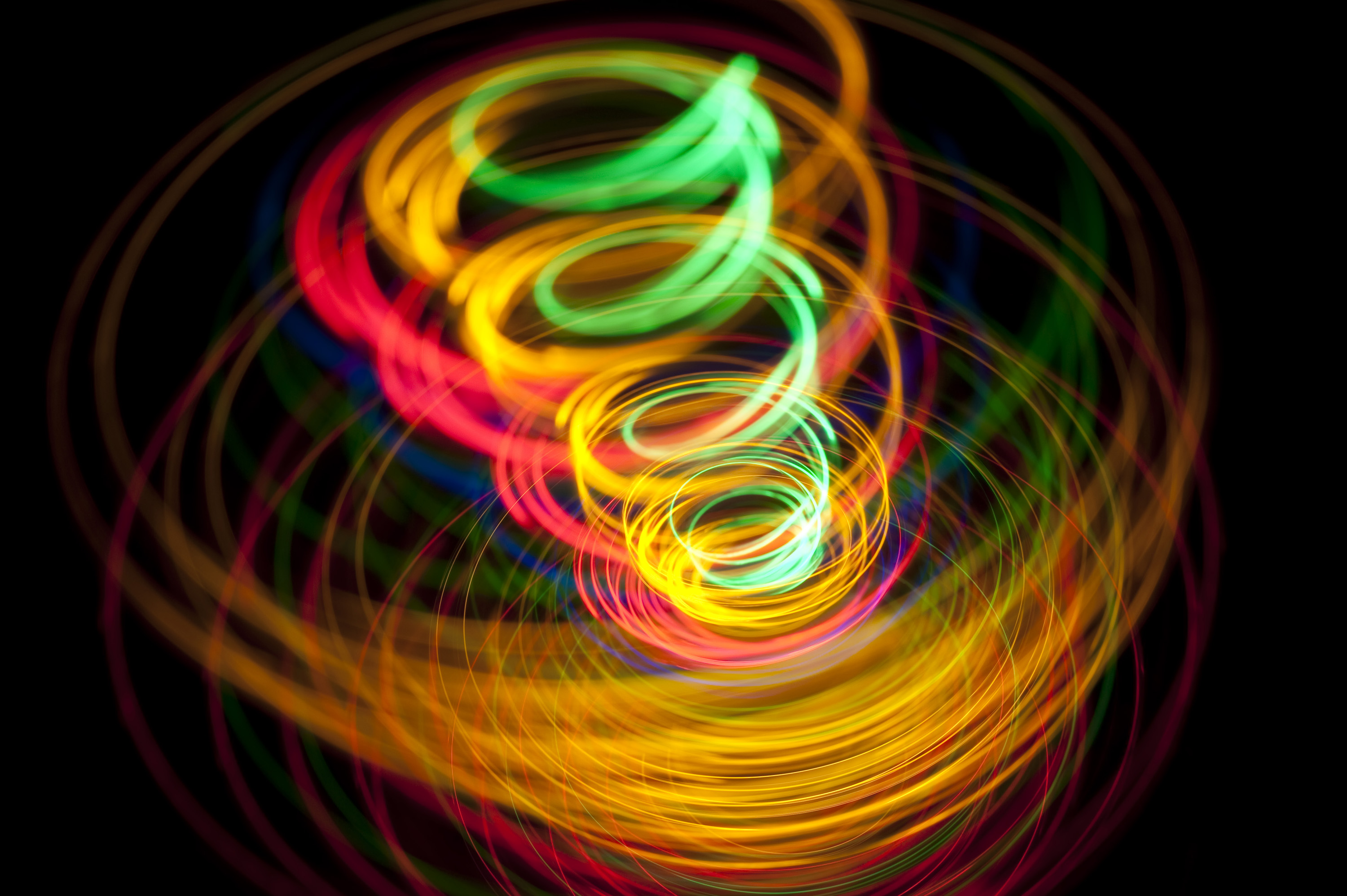 Photo of light spirals | Free christmas images