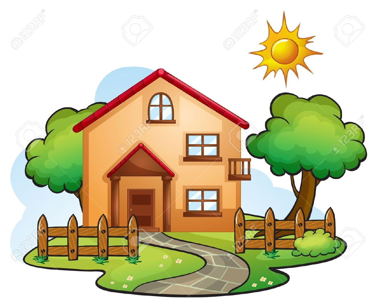 Beautiful house clipart - Clipground