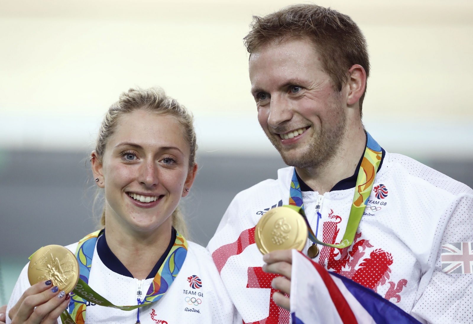 Laura Trott with Kocası