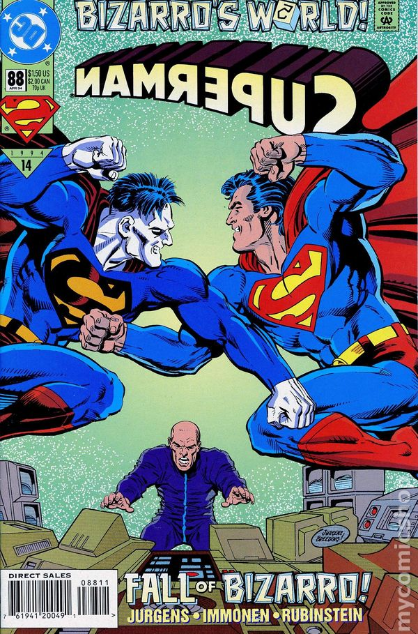 Comic books in 'Superman Bizarro's World'