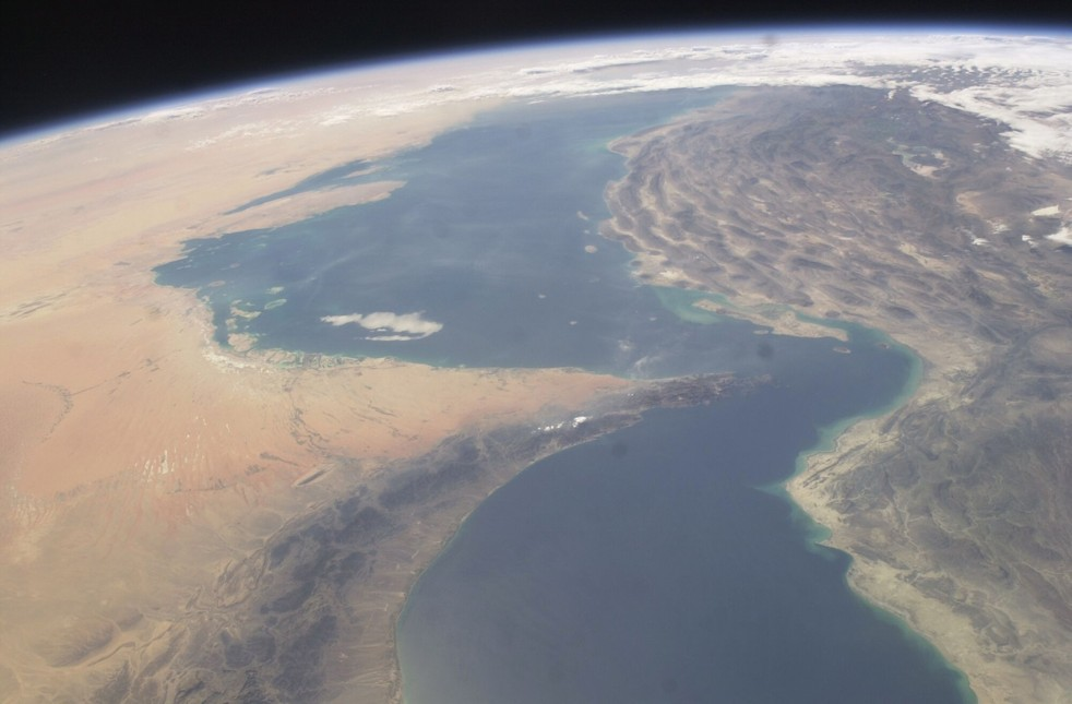 Strait of Hormuz Shot from the International Space Station ...
