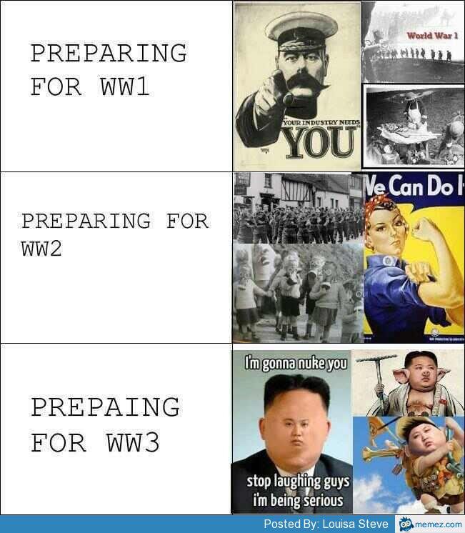Preparing for World War III | Memes.com
