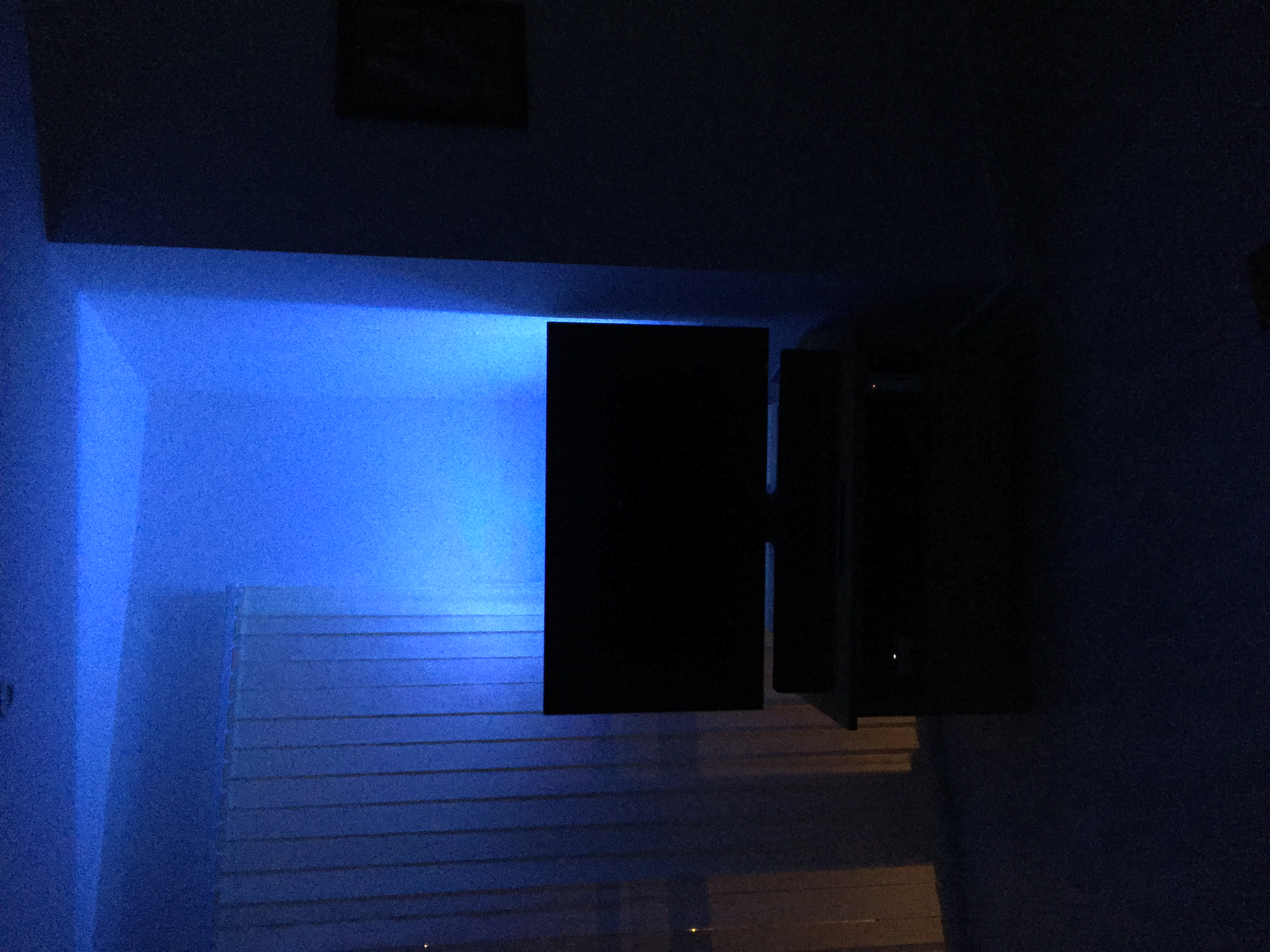 Blue LED behind TV