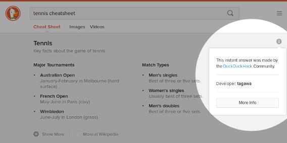 Screenshot of a developer attribution box.