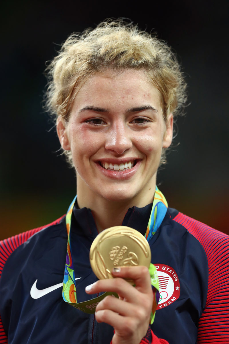 The 27-year old daughter of father (?) and mother(?) Helen Maroulis in 2018 photo. Helen Maroulis earned a  million dollar salary - leaving the net worth at 0.2 million in 2018